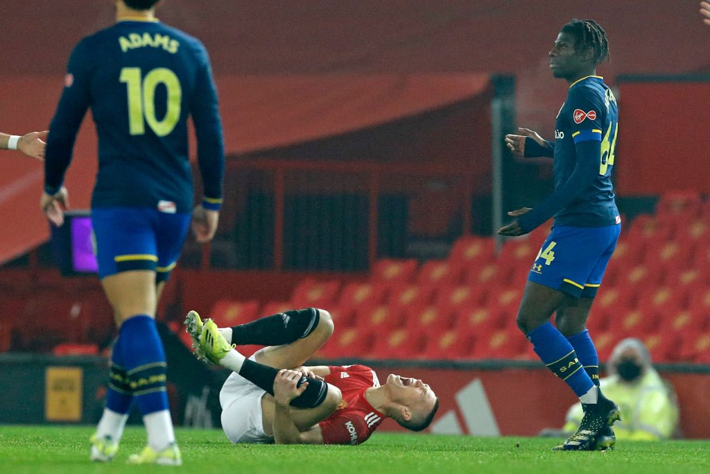 McTominay sufrió la insensatez del joven Saint / FOTO: Southampton FC