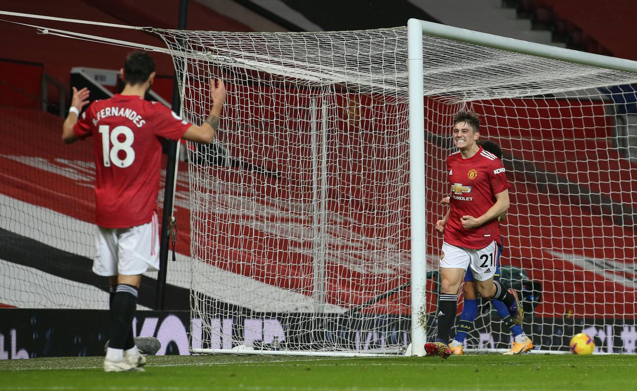 Bruno y Daniel James sellaron el noveno / FOTO: Manchester United