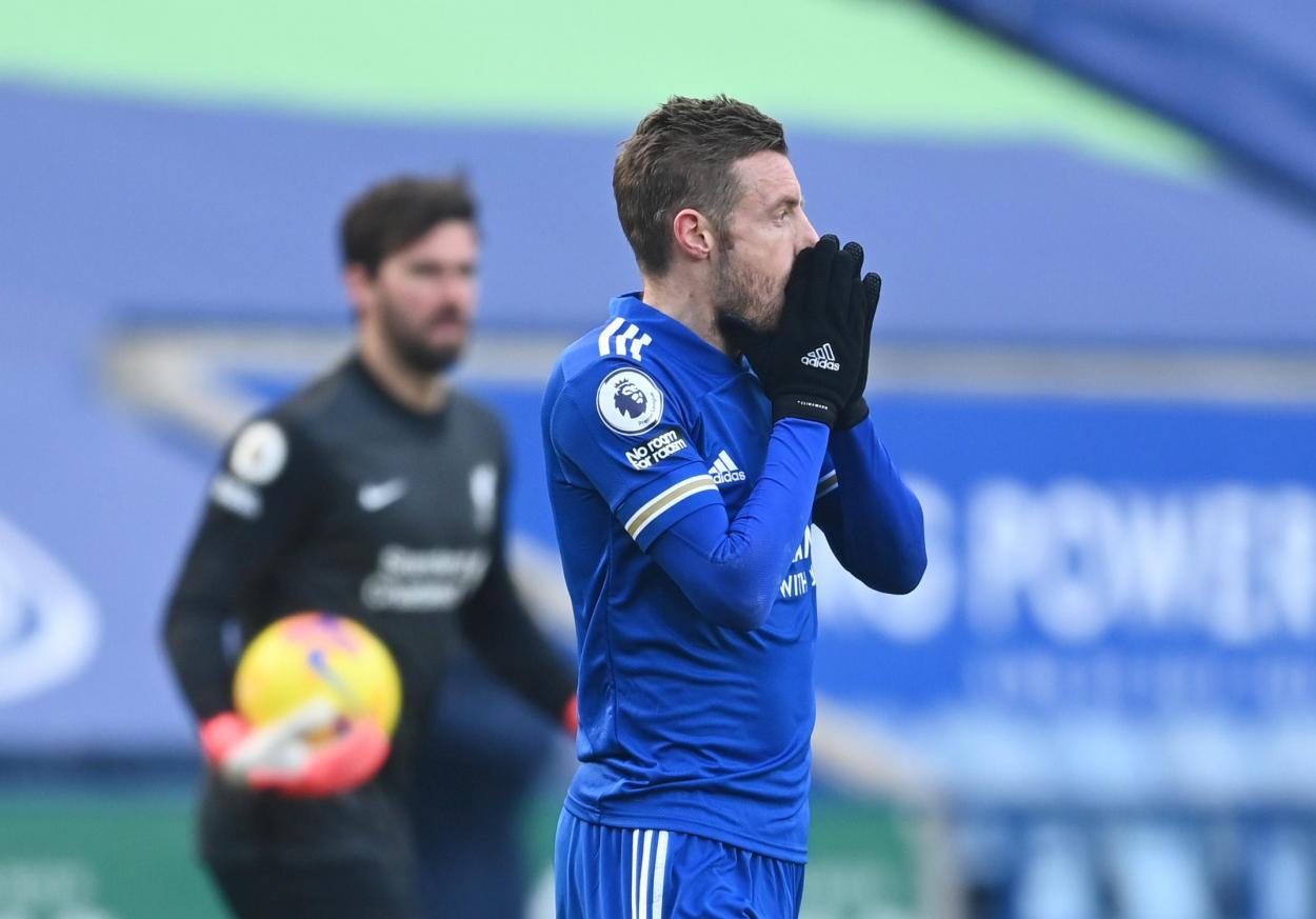Vardy sacó a relucir su olfato para rascar ocasiones / FOTO: Premier League