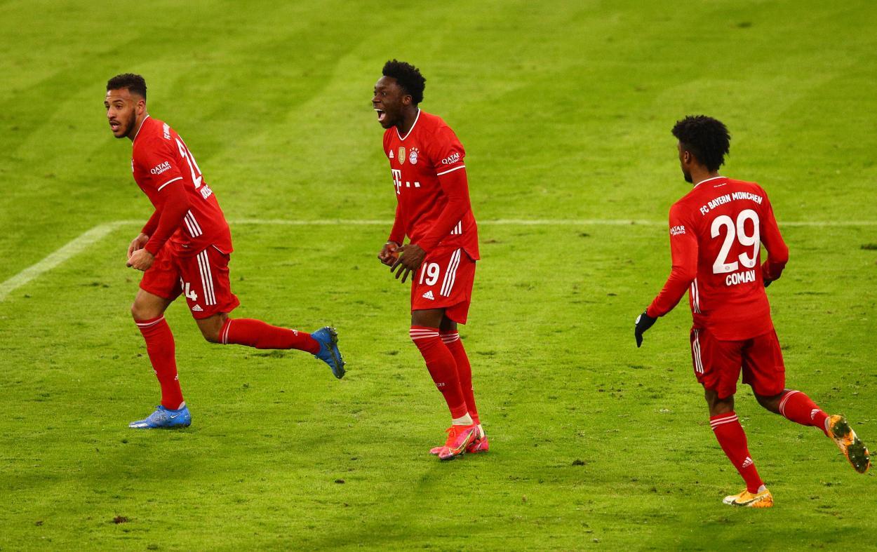Alphonso Davies fue el encargado de meter el gol del empate. / Bayern Múnich oficial
