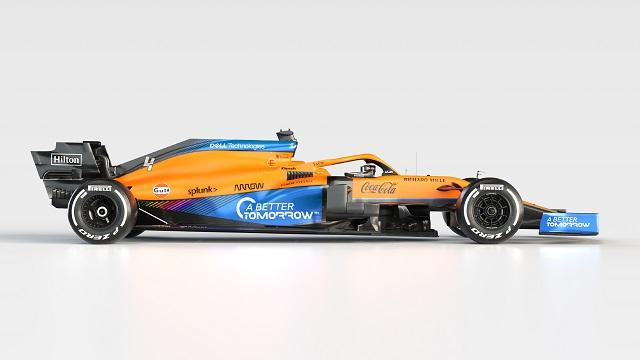 Foto del MCL35M. Fuente: McLaren