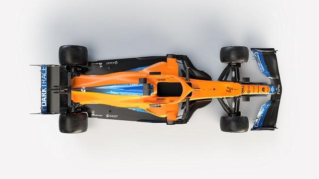 Foto aérea donde se aprecia el nuevo fondo plano. Fuente: McLaren
