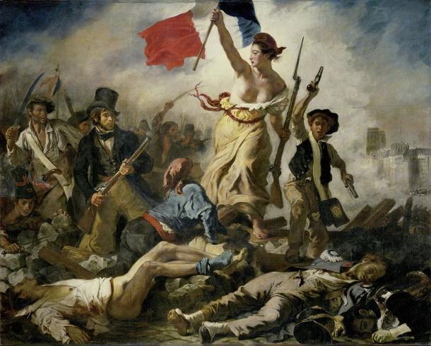 La Libertad guiando al Pueblo (1830), por Eugène Delacroix.  Museo del Louvre de París (PD).
