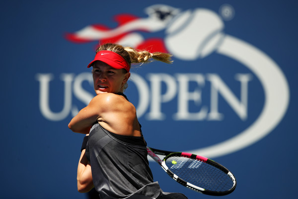 Eugenie Bouchard in action at the US Open | Photo: Clive Brunskill/Getty Images North America