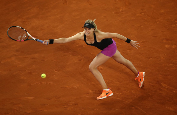 Eugenie Bouchard played her best match this year, defeating Sharapova in three tough sets | Photo: Julian Finney/Getty Images Europe