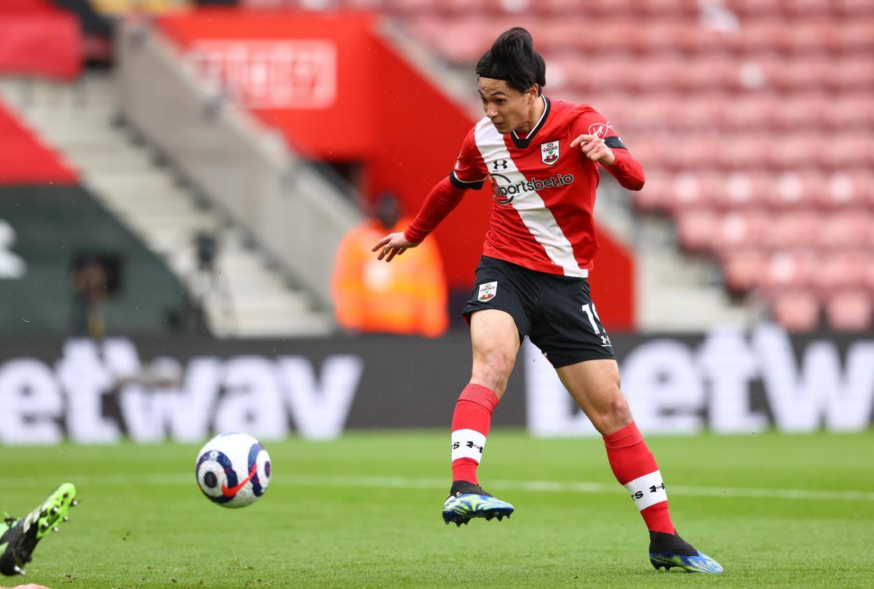 Minamino derrochó calidad para marcar el 1-0 / FOTO: Premier League