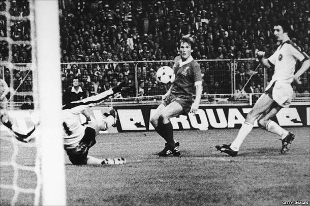 Dalglish scored the winning goal in the European Cup final 1978 (image:theasiankop,com)