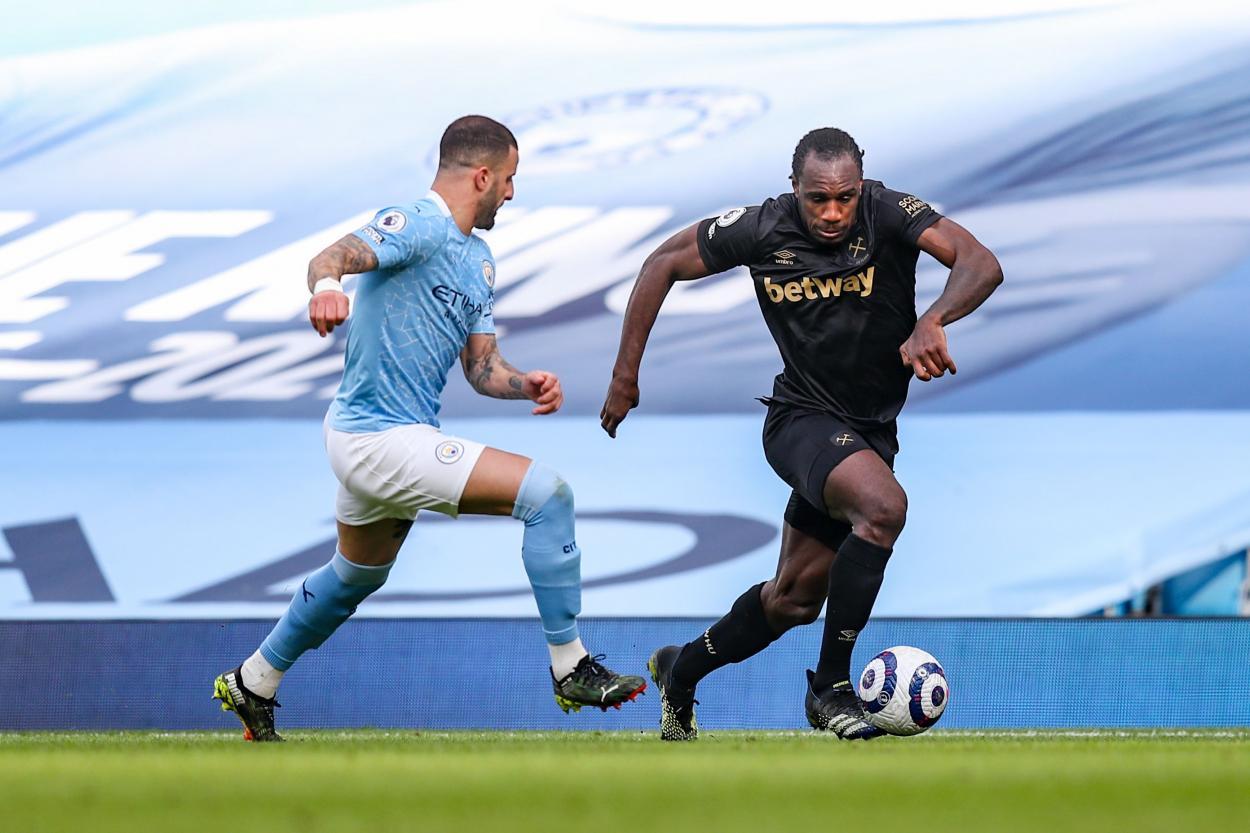 Walker contra Antonio / FOTO: West Ham