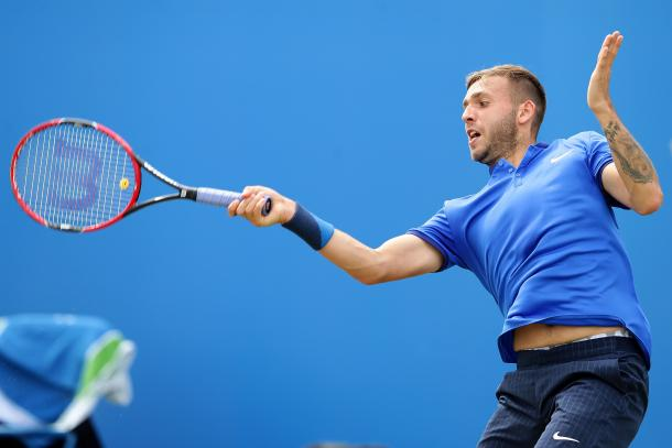 Evans hit eight aces on his way to victory today. Photo: Getty