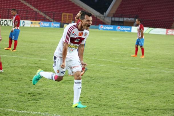 Celebración de Hernández ante Estudiantes la temporada pasada / FOTO: Caracas FC