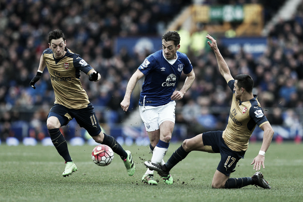 Baines in action in Everton's 2-0 defeat to Arsenal last weekend. | Photo: Getty Images