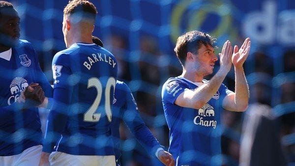 Leighton Baines celebra el gol del 2-1 | Foto: Everton FC