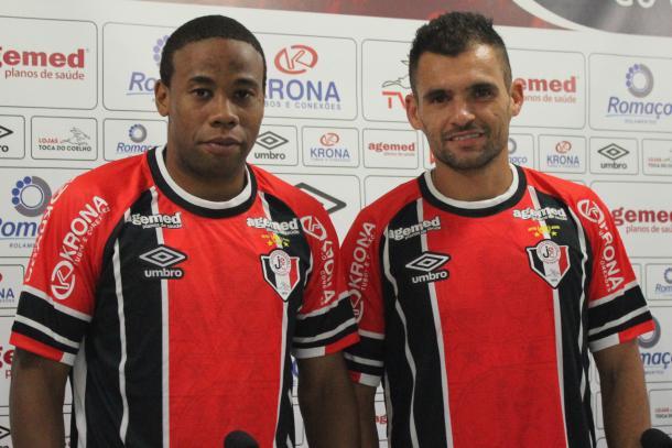 Everton Silva e Paulinho Dias devem ser titulares dois dias após apresentação (Foto: Divulgação/Joinville EC)