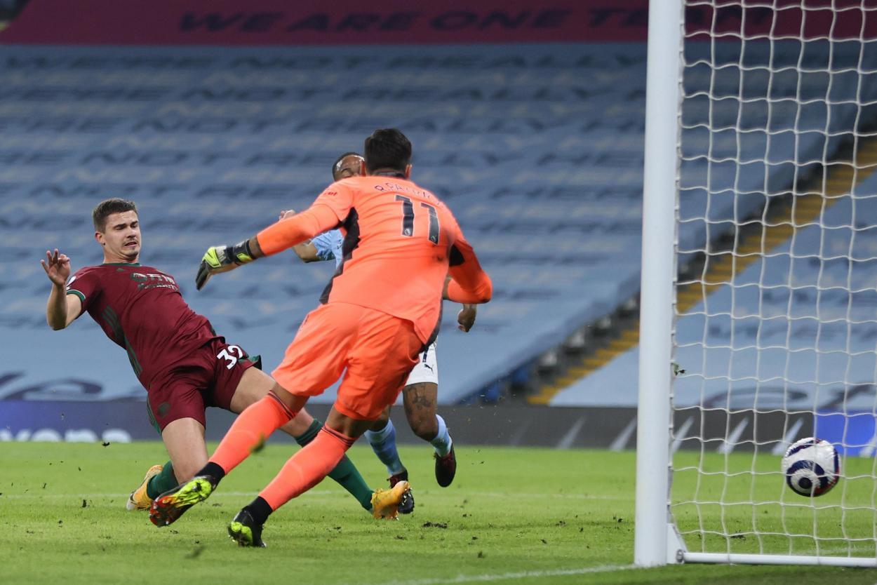La acción del 1-0 / FOTO: Premier League