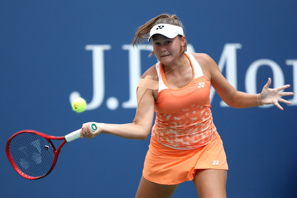 Evgeniya Rodina made the second set a competitive one | Photo: Matthew Stockman/Getty Images North America