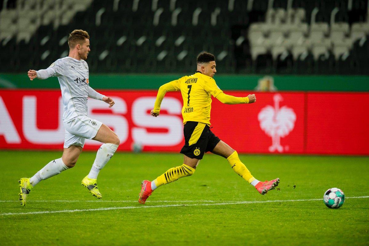 Jadon Sancho fue el encargado de clasificar al Dortmund a la siguiente ronda de la Copa Alemana. / Twitter: Borussia Dortmund oficial