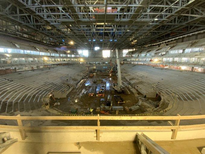 Interior del UBS Arena durante el pasado mes de enero / UBSarena.com