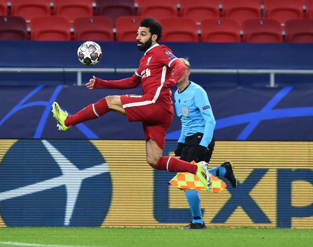 Mohamed Salah en acción. Fuente: @LFC