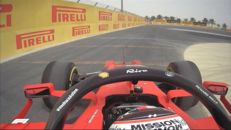Leclerc aparcando el coche al final de la jornada. Foto: Formula 1