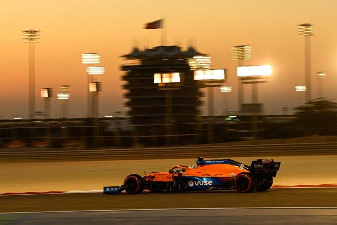 Lando Norris en los test de Bahréin. (Fuente: @McLarenF1 Twitter)