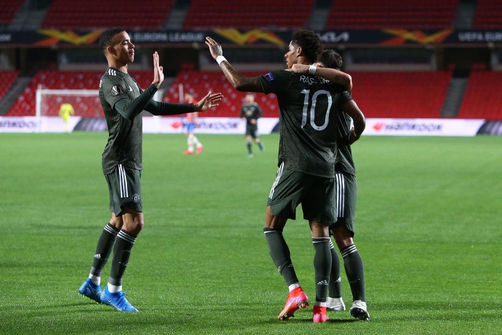El United celebrando el 0-1 / FOTO: UEFA