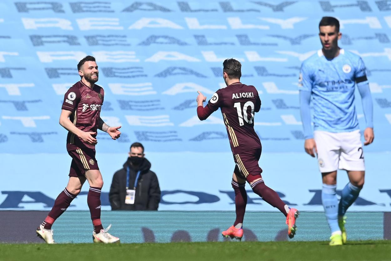 Dallas y Alioski celebran el 0-1 / FOTO: Leeds United