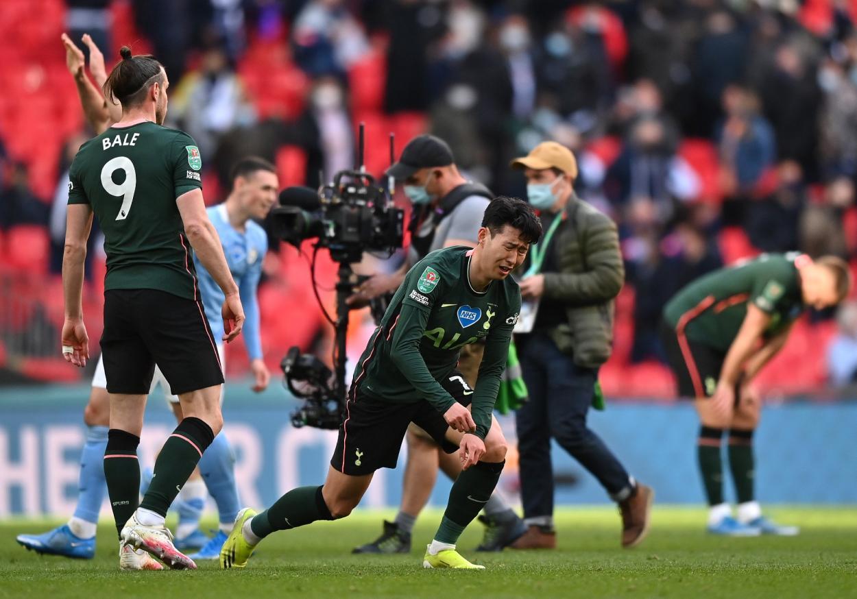 El lamento de Son tras caer ante el Manchester City / Foto: ESPN