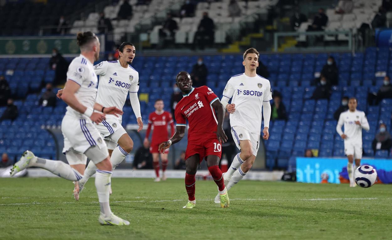 Mané marcando el 0-1 / FOTO: Premier League