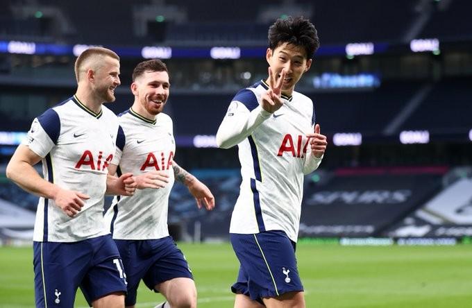 Heung Min Son celebrando su gol / Foto: Tottenham Hotspur