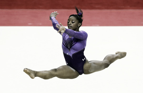 Simone Biles on the floor exercise. Photo Credit: Ezra Shaw of Getty Images