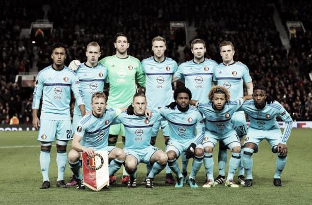 Once inicial del Feyenoord en Old Trafford. / Foto: feyenoord.com