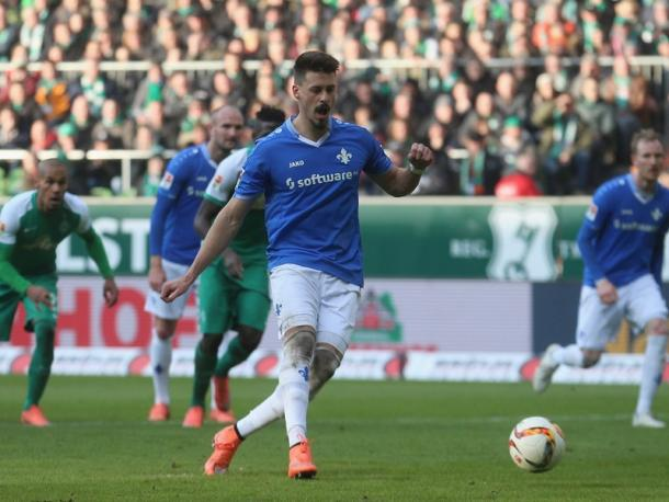 Wagner struck again against his old club. Image via Kicker.de