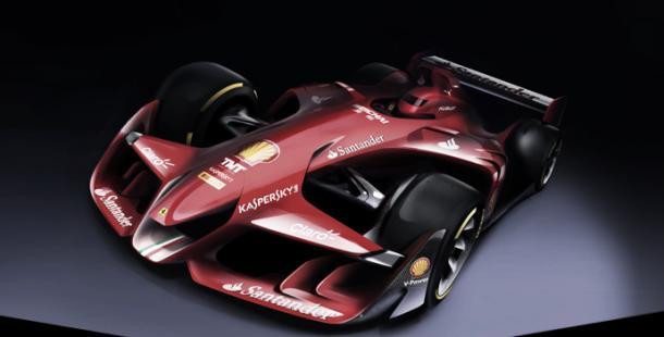 Conceito de F1 do futuro da Ferrari (Foto: Reprodução)
