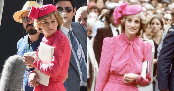 """Emma Crorrin (""""The Crown"""") y Diana de Gales"""