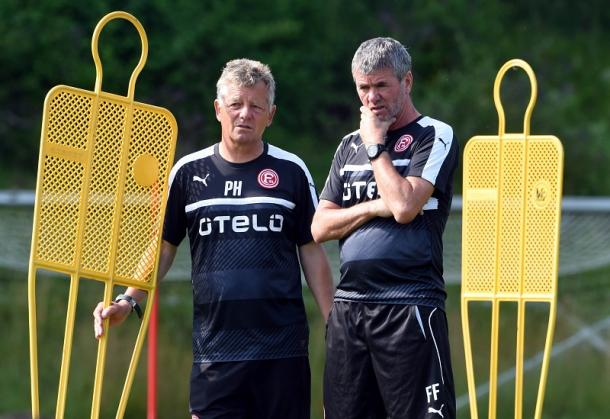 Funkel ponders his options. | Image credit: Fortuna Düsseldorf