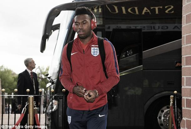 Daniel Sturridge arriving at the Stadium of Light ahead of England's 2-1 win over Australia | Photo: The FA via Getty Images