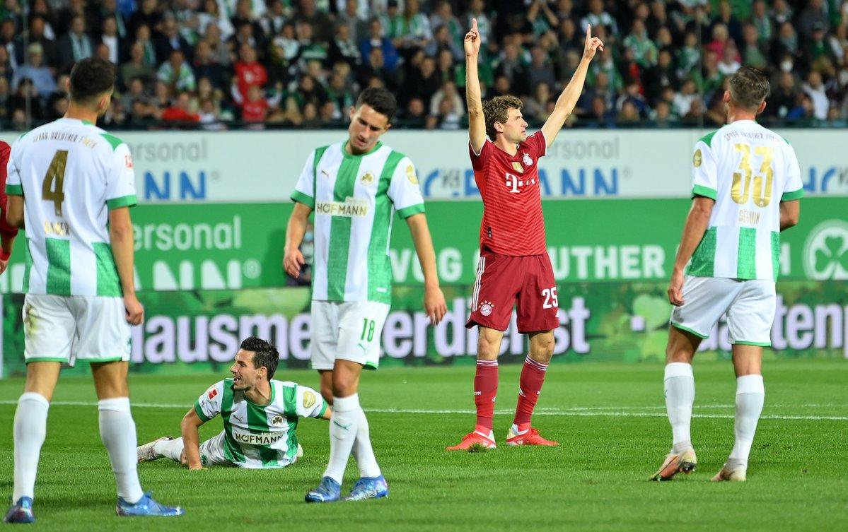 El festejo de Müller / Foto: @FCBayern