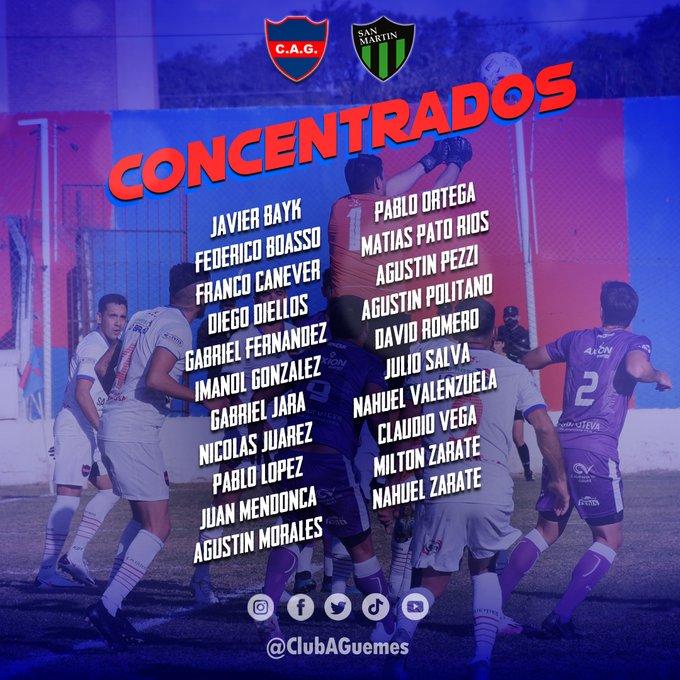 Los elegidos por <strong><a href='https://vavel.com/ar/futbol-argentino/2021/06/27/deportivo-santamarina/1076381.html'>Javier Bayk</a></strong> para buscar los tres puntos de local. Foto: Prensa Atlético Güemes.