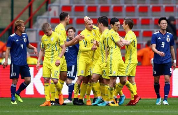 Japón perdió 2-1 ante Ucrania en Lieja   Foto: FIFA