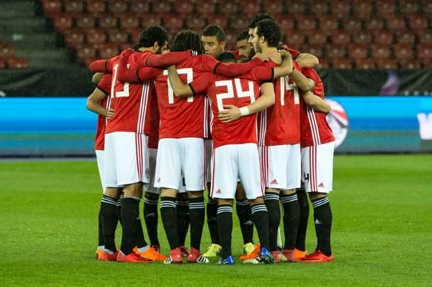 Los faraones durante el amistoso ante Grecia en Zúrich | Foto: FIFA