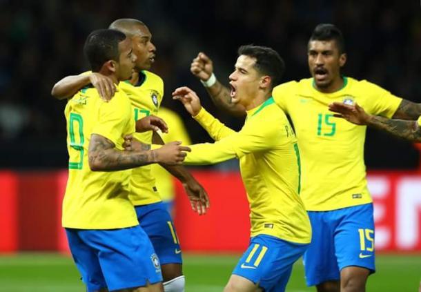 Brasil celebrando su ajustada victoria ante Alemania en Berlín | Foto: FIFA