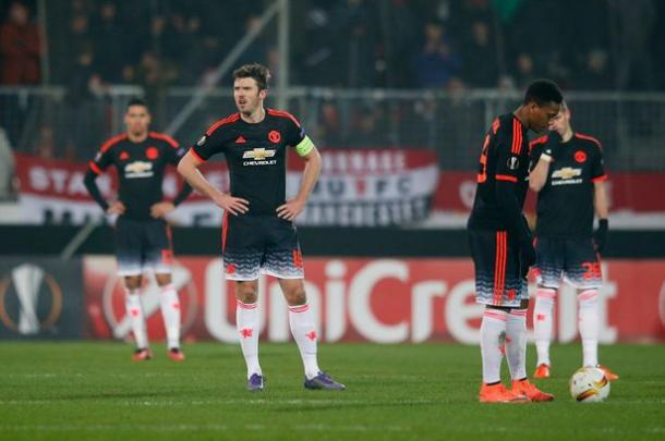 United have it all to do in the second leg (Getty Images)