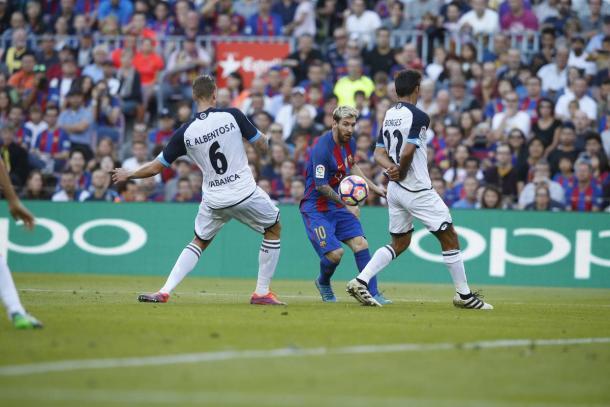 Messi volvió después de recibir el alta médica | Foto: FCB