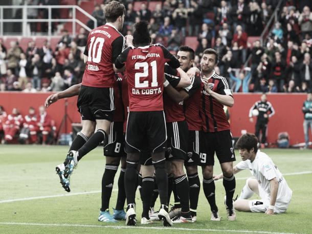 It was looking like an easy three point for Ingolstadt going into the break. | Image credit: kicker - Getty Images