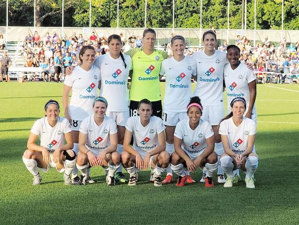 Shea Groom (far left, front row) played for three seasons with FC Kansas City before moving to New Jersey last year. | Photo: Bob Brents