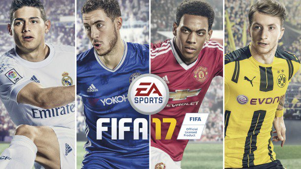 The four cover players on FIFA 17/EA Sports