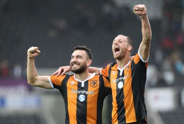 Snodgrass and Meyler also celebrate the Tigers' victory (Photo: Getty Images)