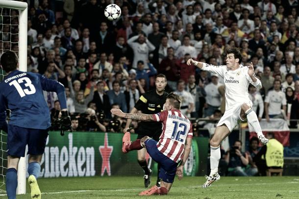 Gareth Bale hacía el 2-1 ante el Atlético de Madrid | Foto: Real Madrid