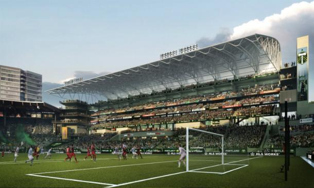 Renderings of the proposed expansion of Providence Park | Source: Allied Works Architecture