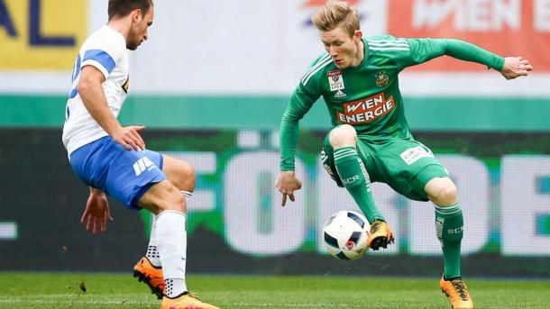 Florian Kainz has been in fine form for Rapid Wien recently. | Image source: Bundesliga.de